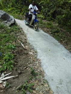 Road after repair at Kg Sekam