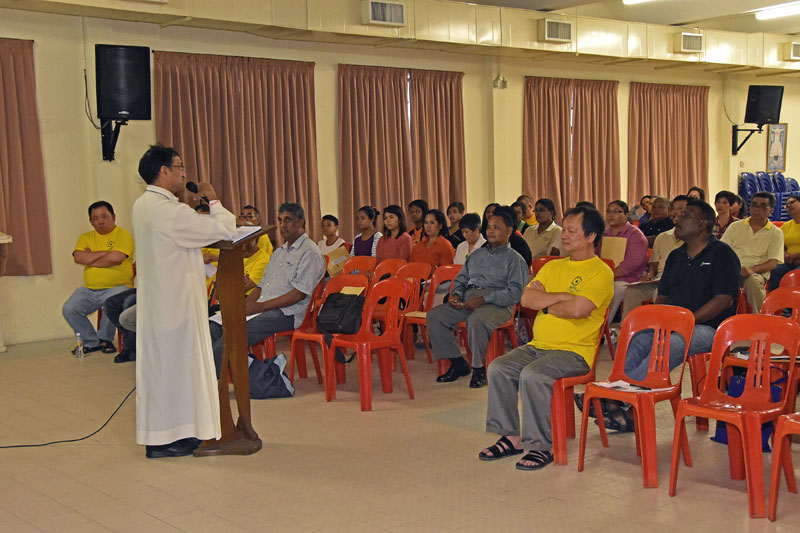 Bishop addressing participants