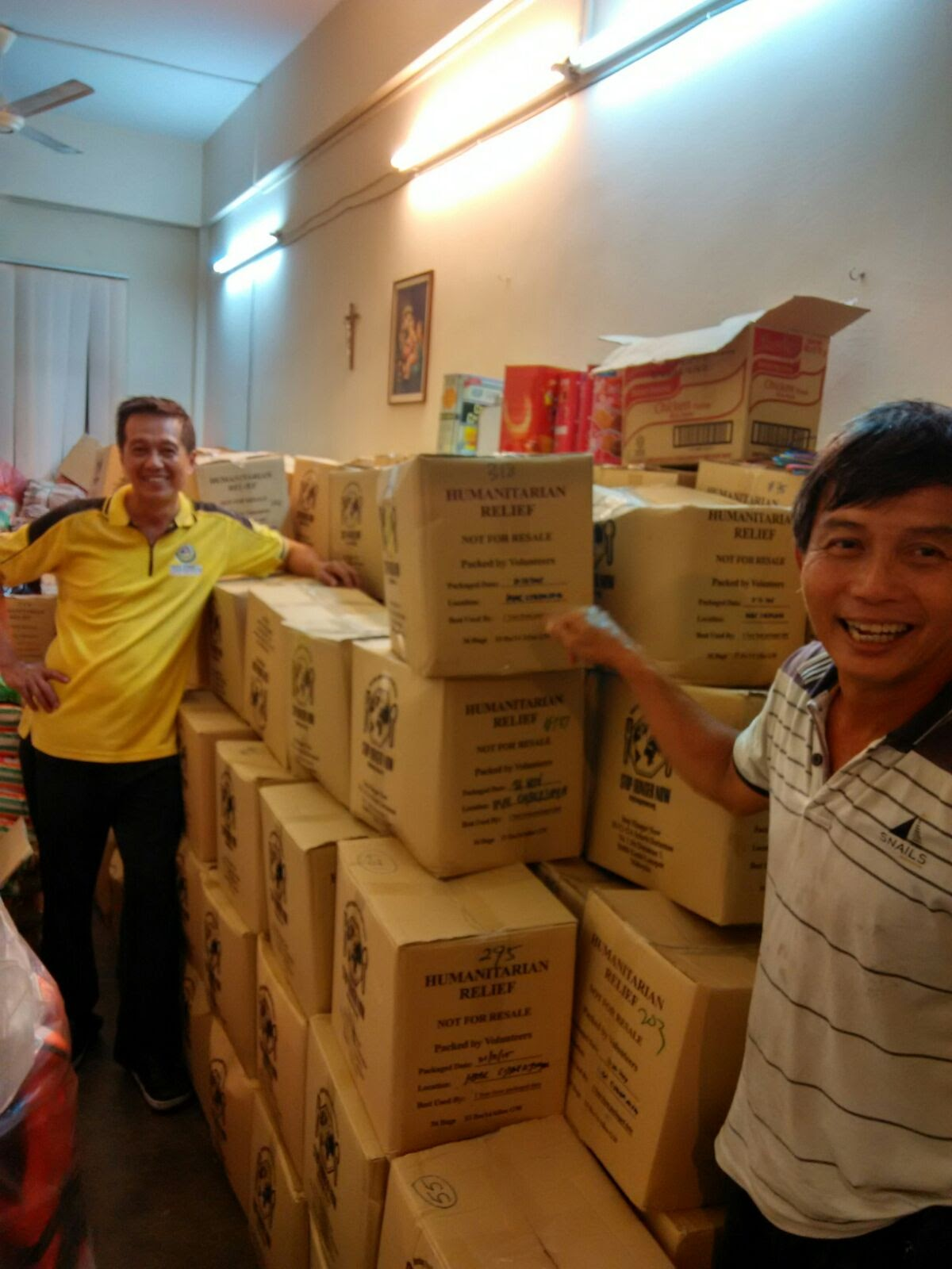 Fortified rice donated by HSBC safely deliveredd to SMC
