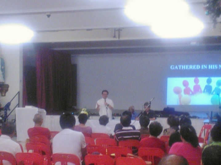 Fr Liew addressing Parish Assembly