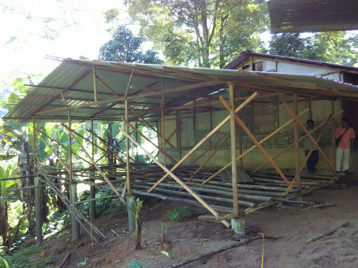 Initial building stage of village pre-school