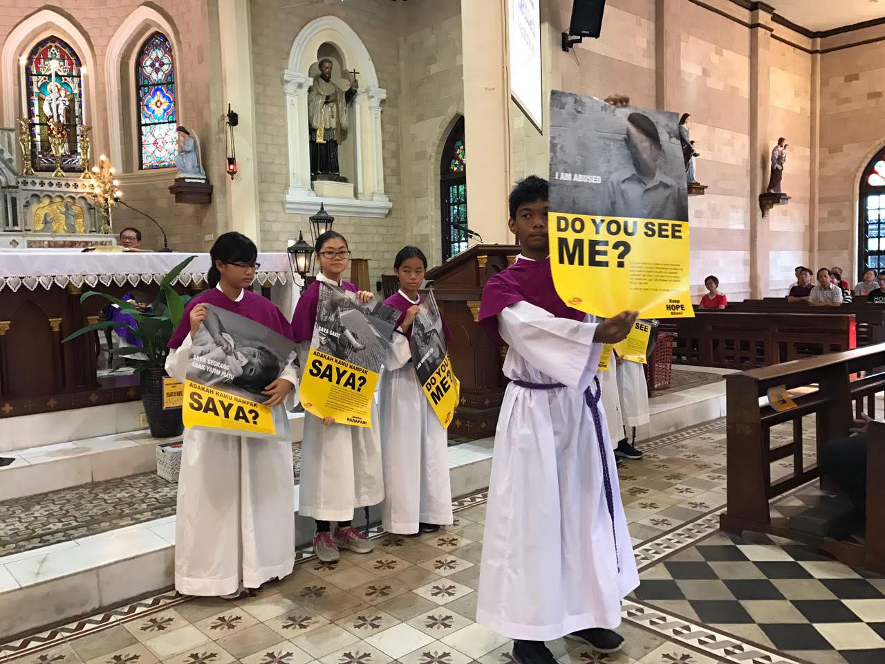 Launch of Lenten Campaign at SMC English mass