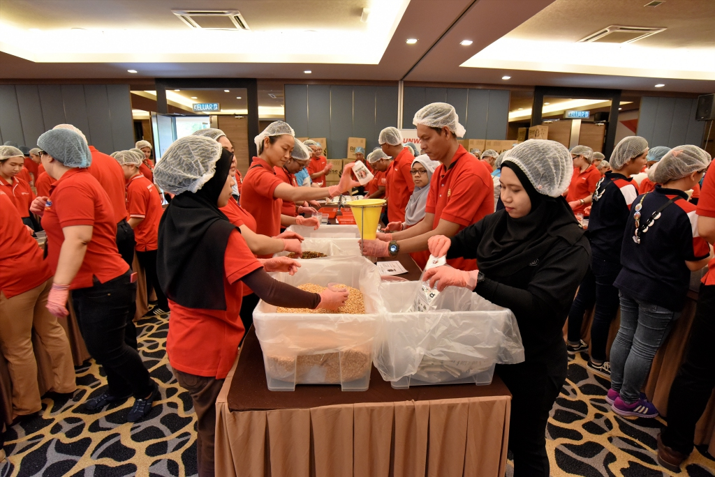 Sunway donation of fortified rice
